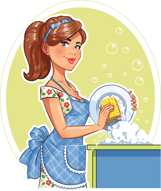 Maid clipart washing dish. Doing dishes clip
