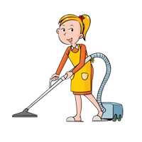 Maid clipart washing dish. Home service domestic help