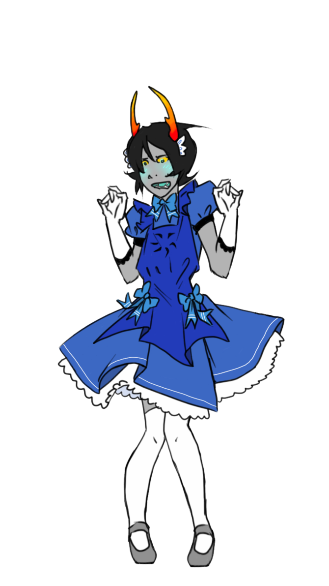 Maid drawing. French of void by
