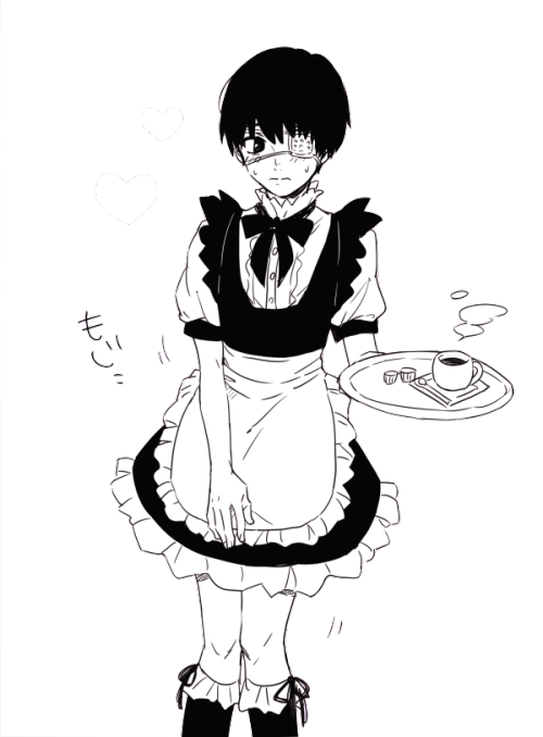 maid drawing outfit