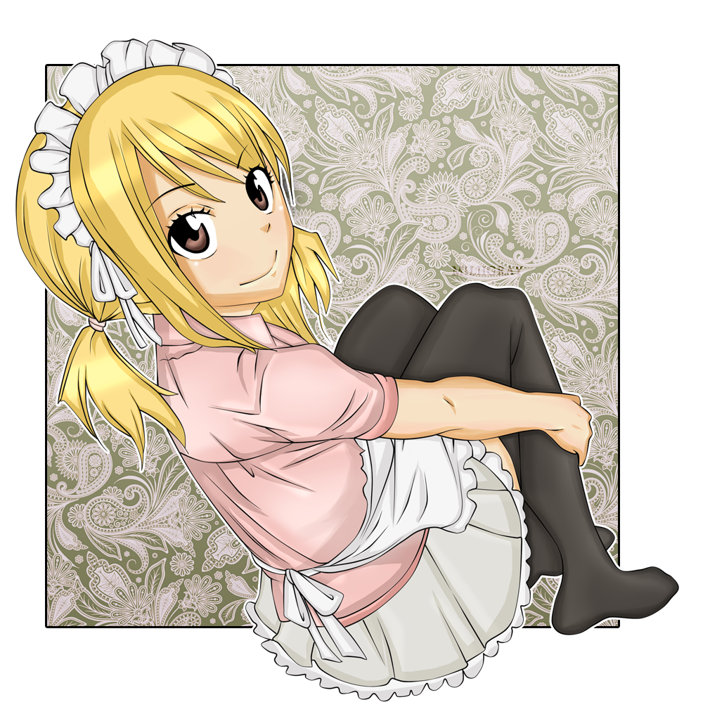 Maid drawing lucy. By miliigray on deviantart