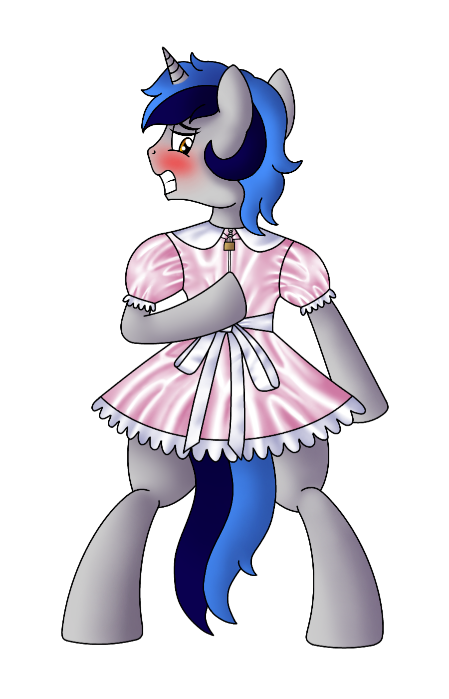 Maid drawing male. Artist cappie bipedal