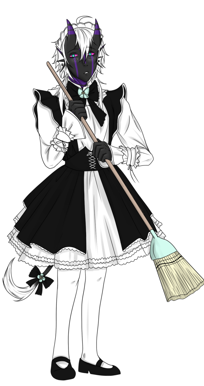 Maid drawing outfit. Pose prompt by nessa