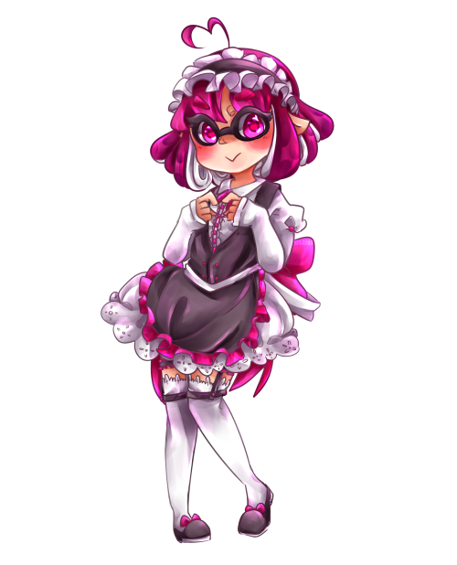 Maid drawing outfit. Pink tumblr