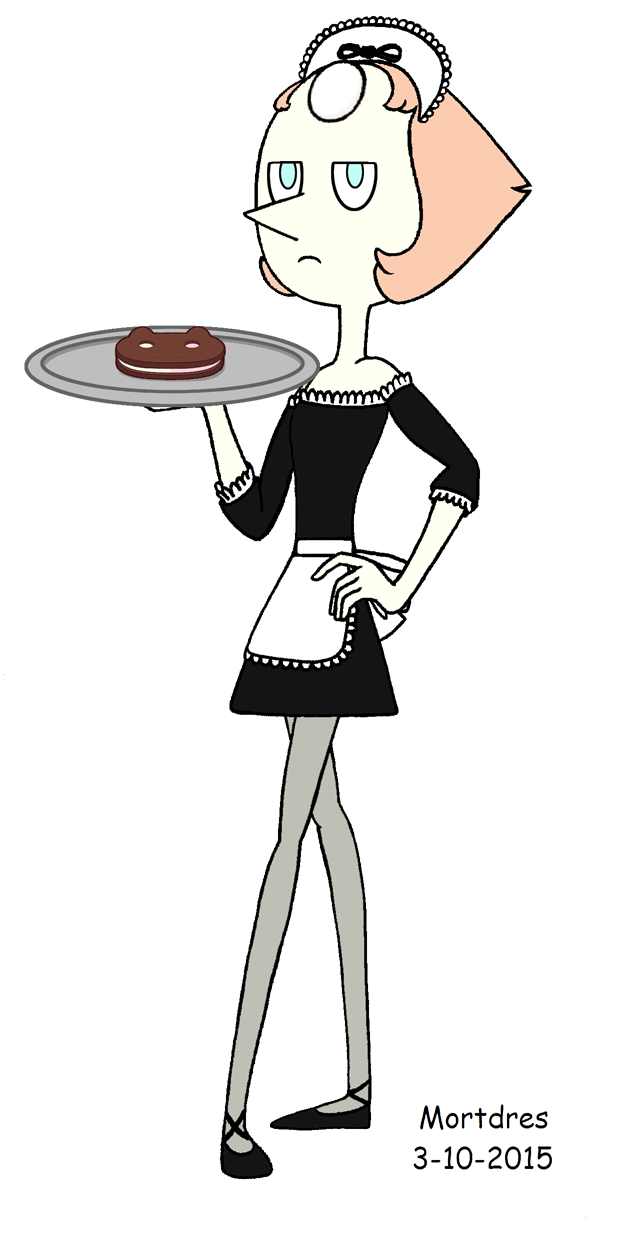 Maid drawing servant. Pearl by mortdres on