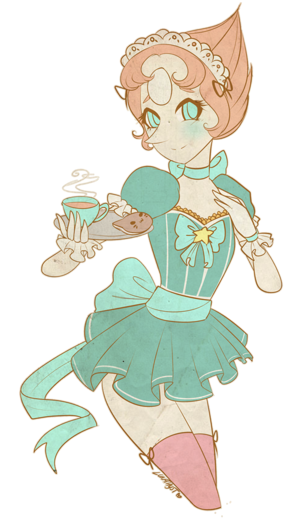 Maid drawing servant. A to order by