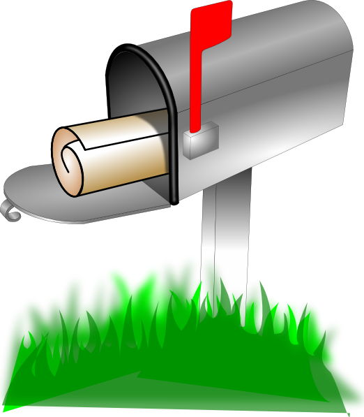 Bill clipart mailbox. Direct mail distribution clip