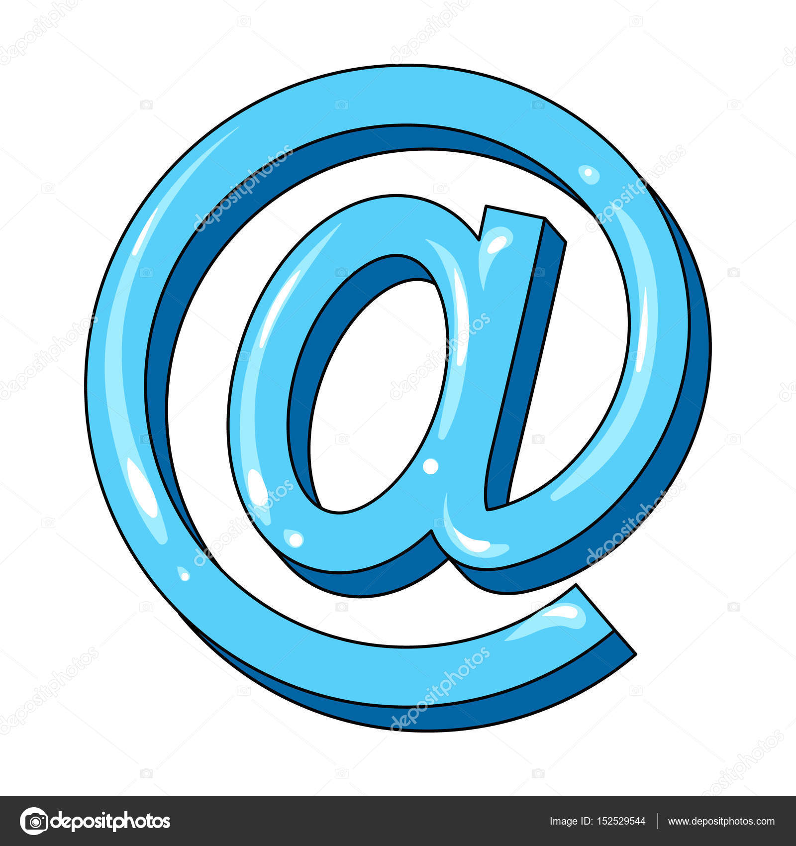 Mail clipart mail symbol. Email and postman single