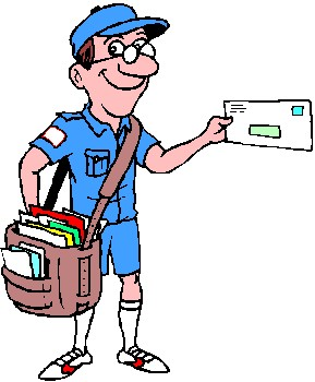 mail clipart postal worker