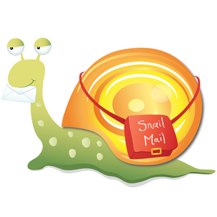 Mail clipart snail mail. The little blue dog