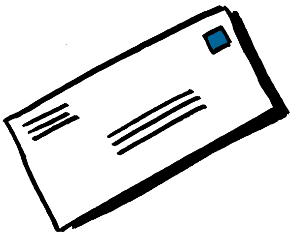 Letters mail png. Shabbat sending before receiving
