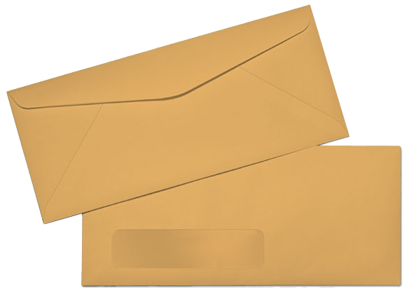 Envelope transparent letter. Mail letters send large