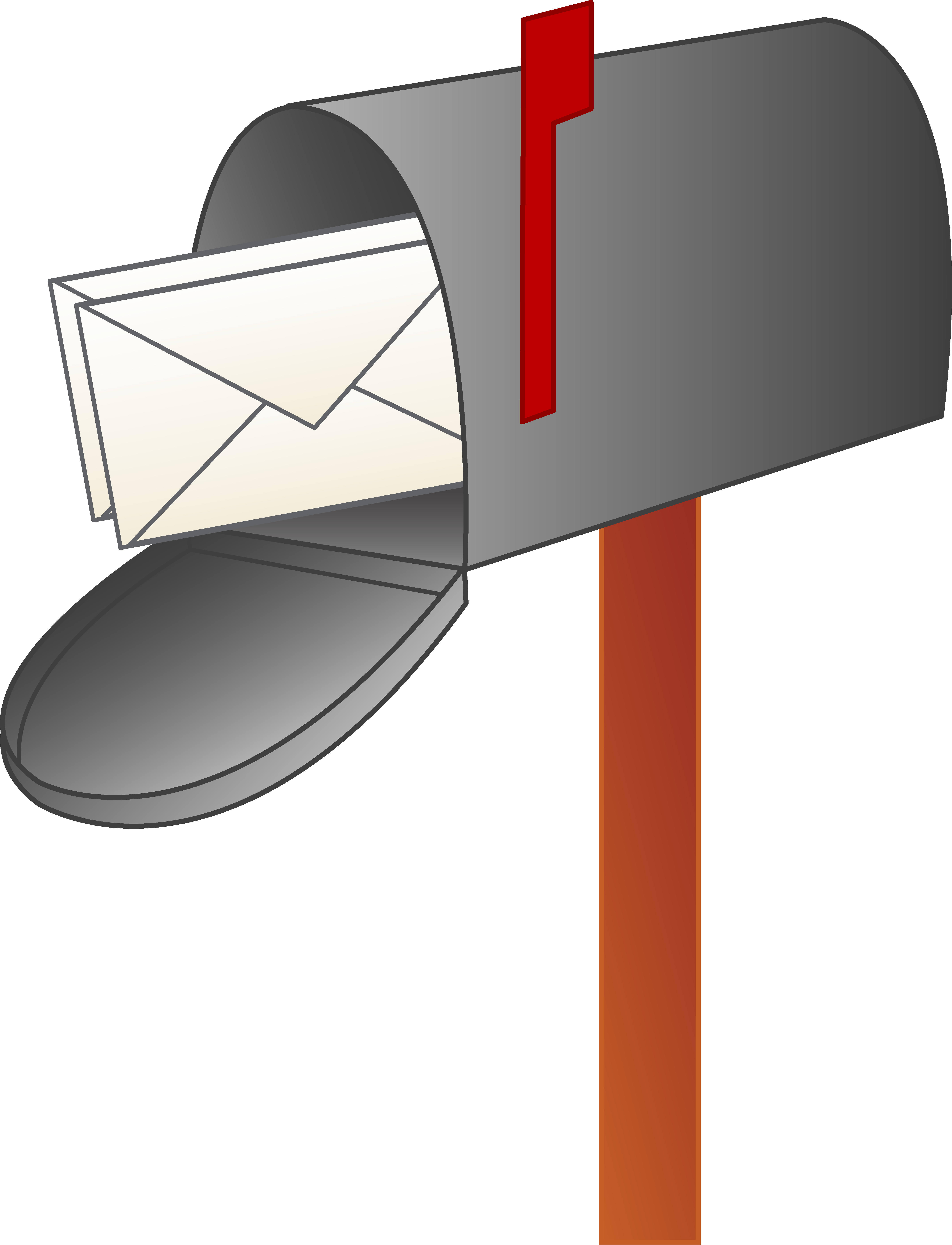 Post clipart. Mailbox with letters free