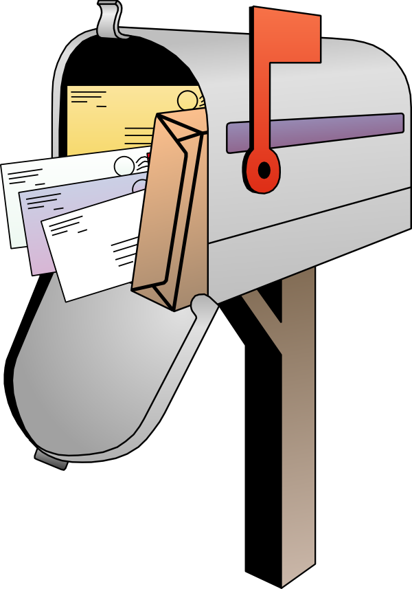 Mailbox clipart mail letter. Letters how to