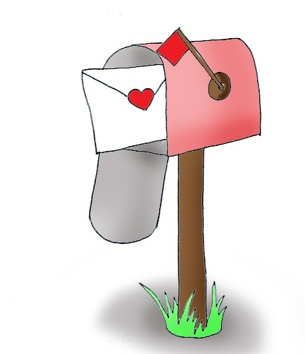 Mailbox clipart mail letter. Cute letters cartoon clipartbarn