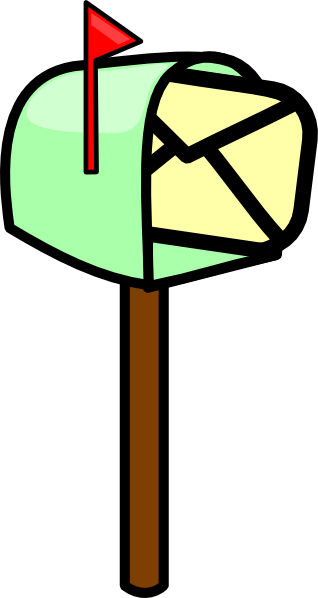 Mailbox vector clip art. With mail at clker