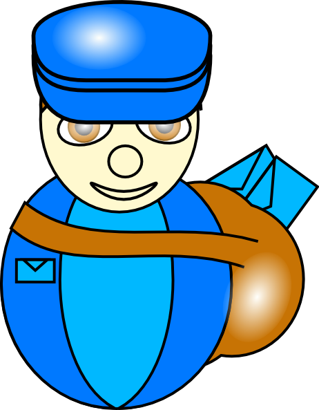 Clip art at clker. Mailman clipart transparent library