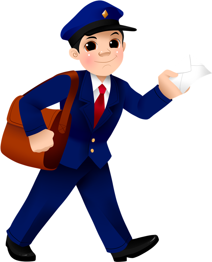 Royalty free postman png. Mailman clipart png