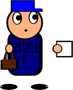 Postman clip art at. Mailman clipart black and white library