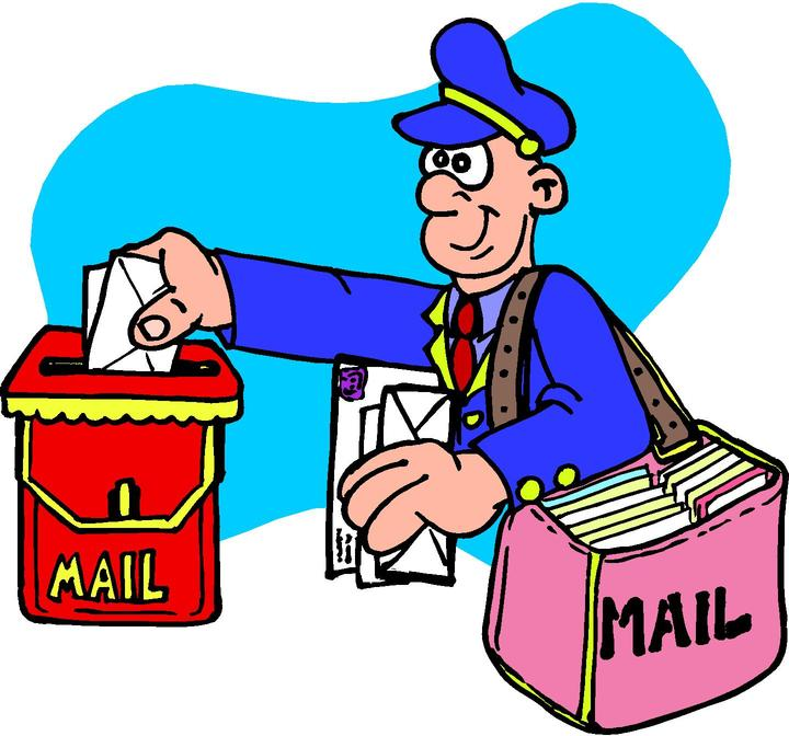 West hollywood postal workers. Mailman clipart committee correspondence vector download