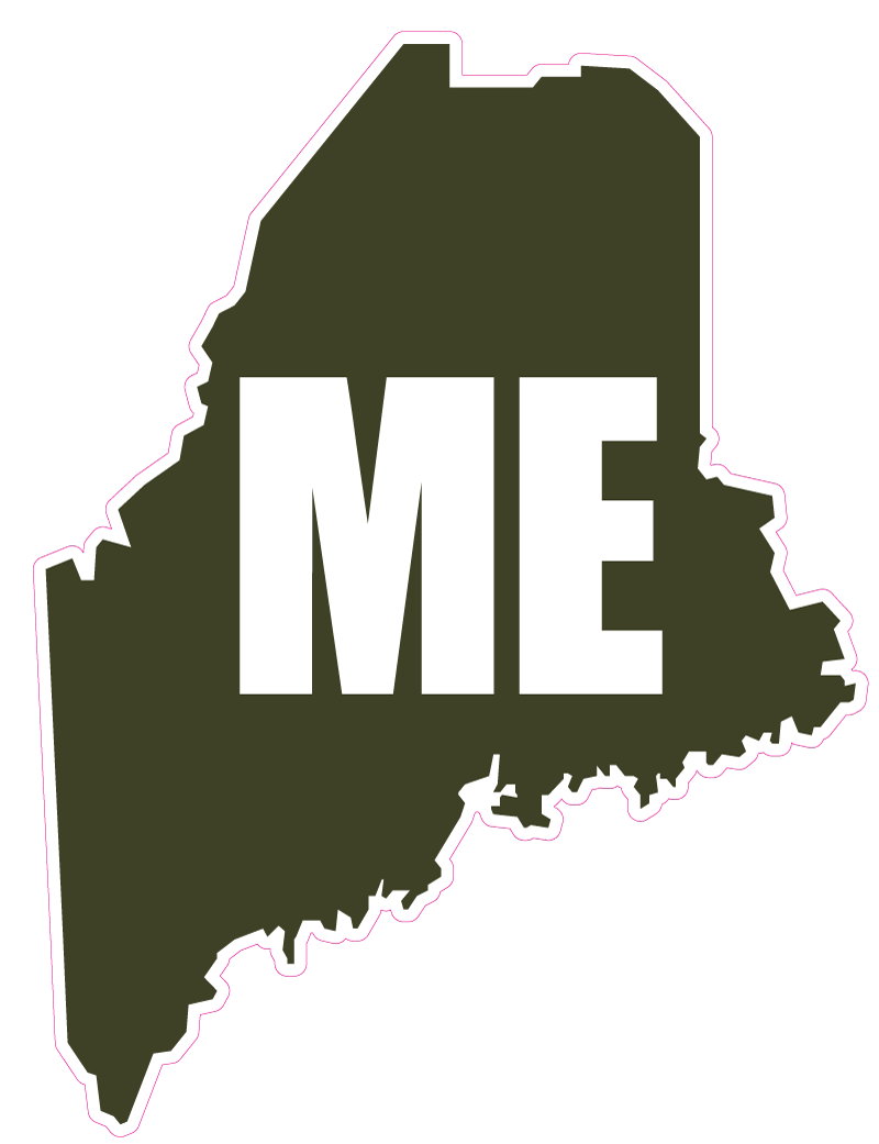 Maine outline png. Shape greenwhite state outlines