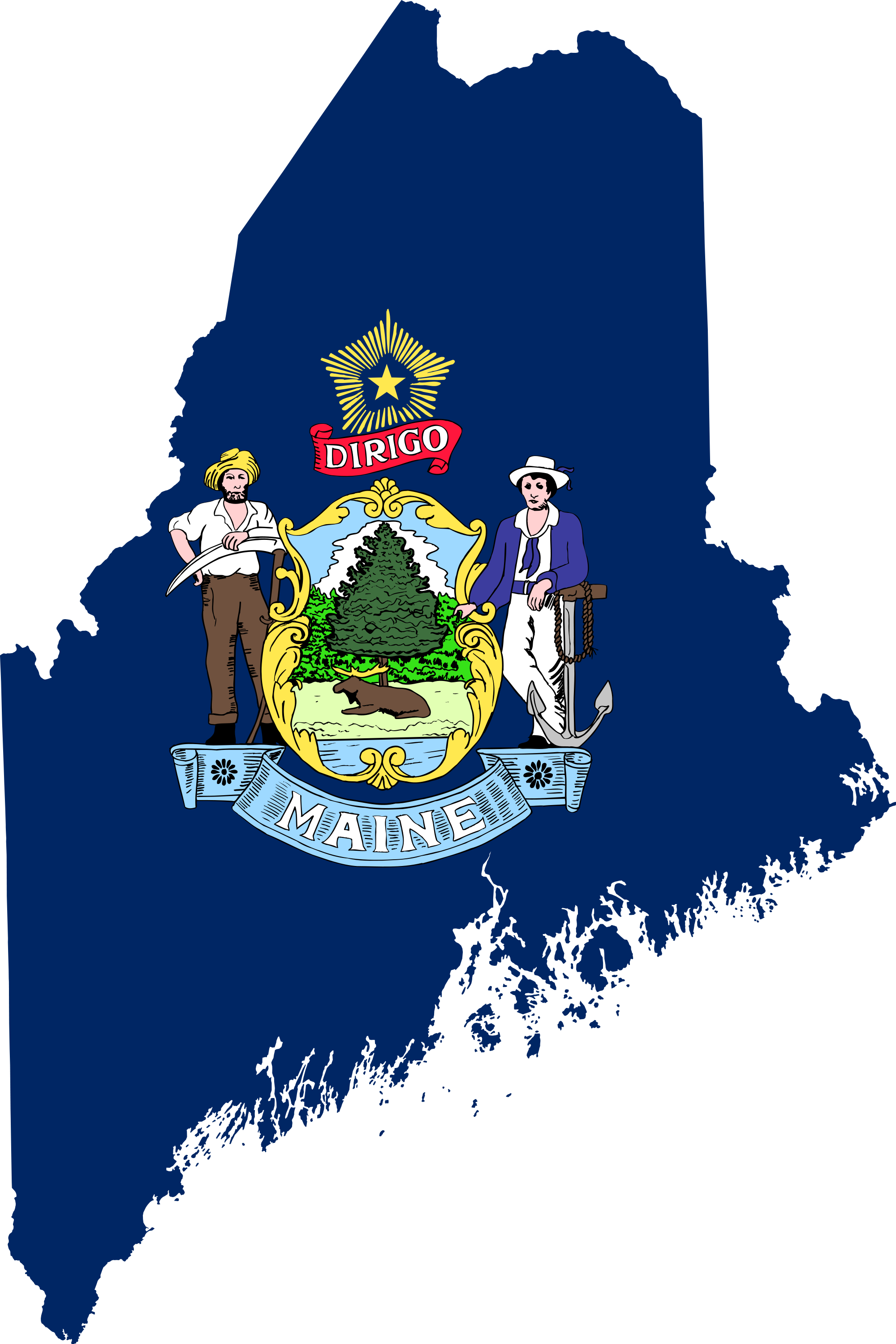 Maine vector map. File flag of svg