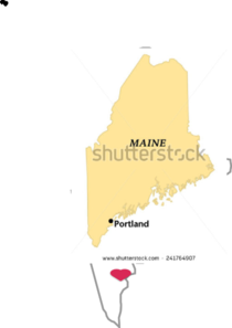 Maine vector. Silhouette clip art at