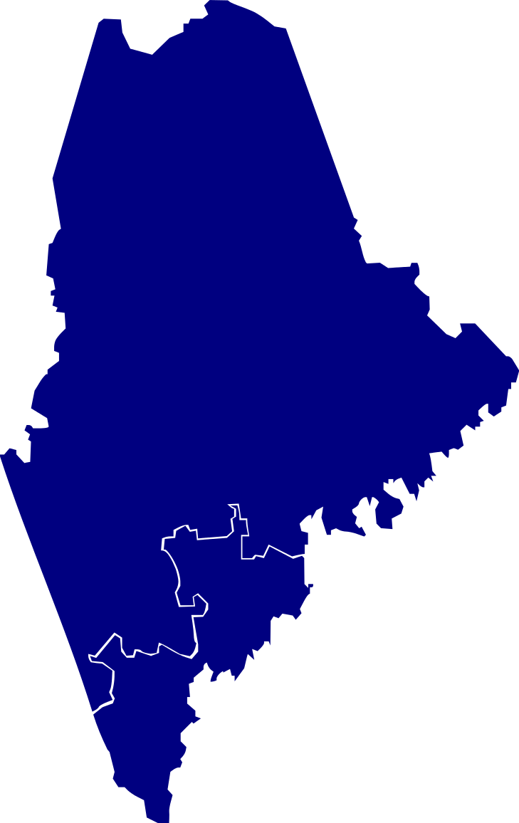 Maine vector blank. File house elections svg