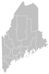Maine vector blank. File map of svg