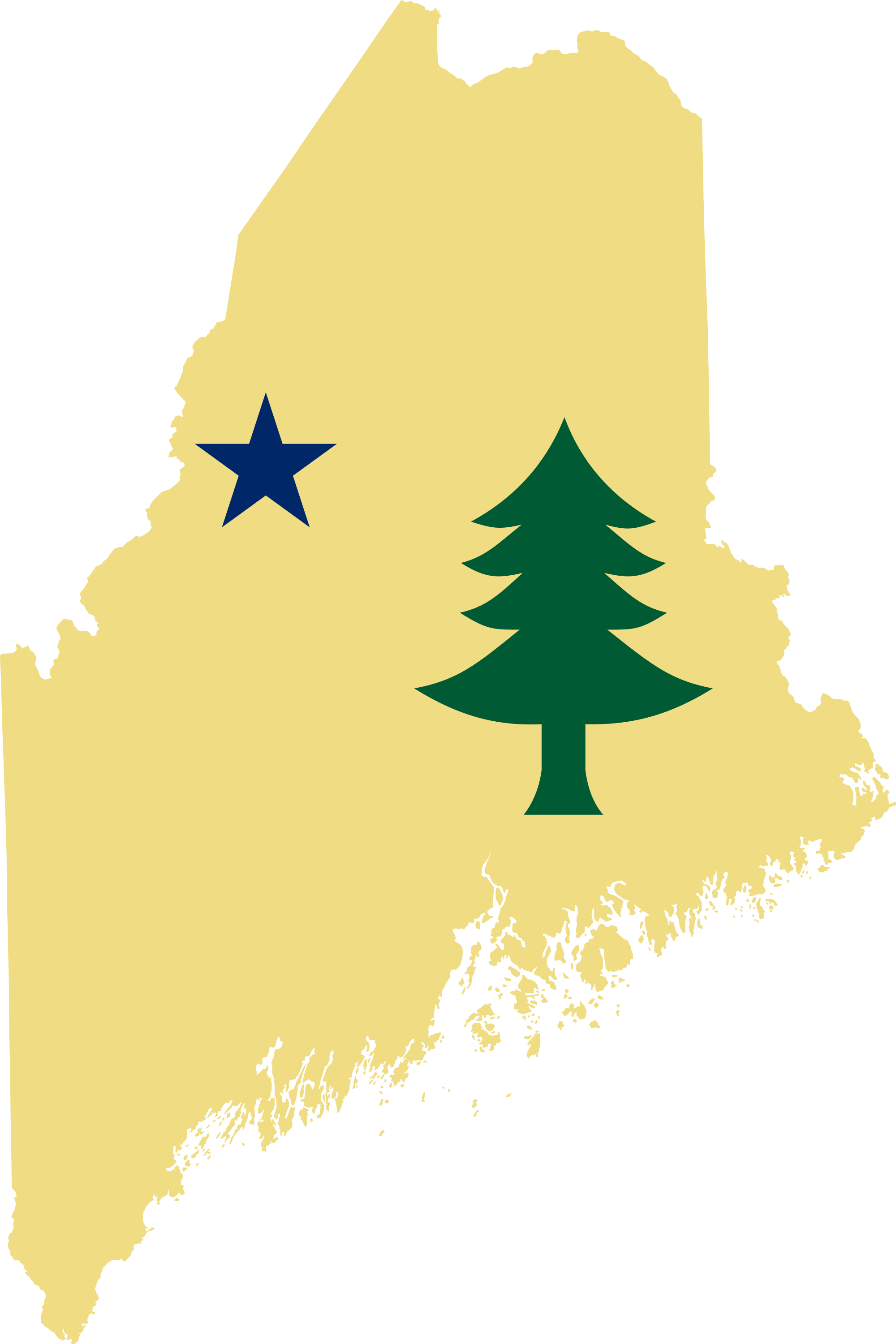 Maine vector map. File flag of png