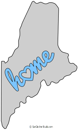 Maine vector simple. Map outline printable state