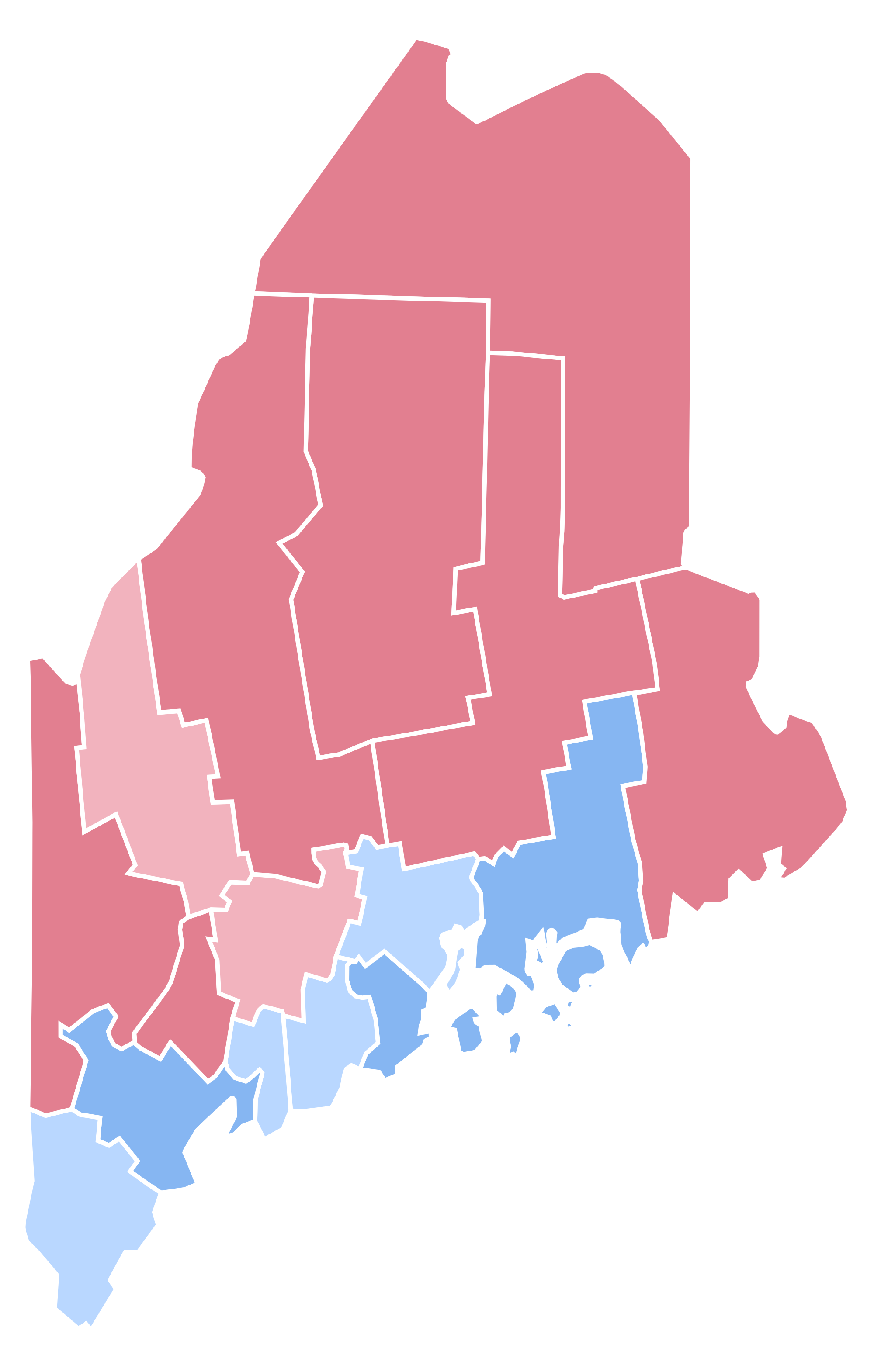 Maine vector svg. File presidential election results
