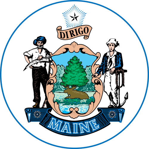 Maine vector svg. File stateseal wikimedia commons