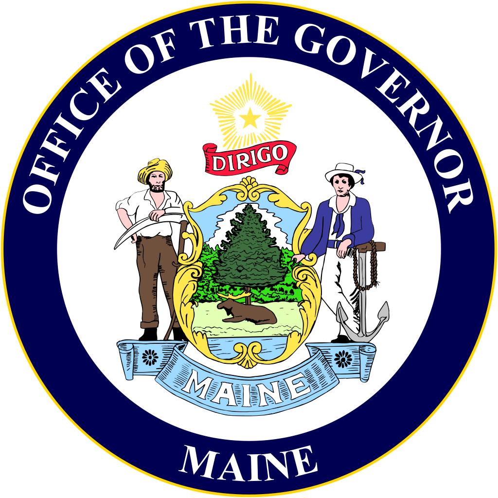 Maine vector svg. File seal of the