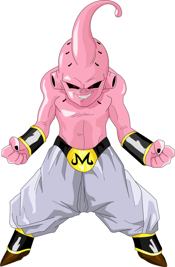 Majin buu m png. Kid by luigicuau cories
