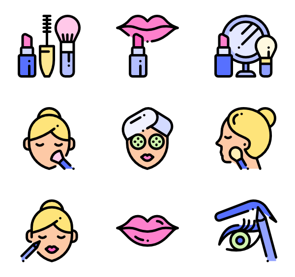 Make a picture png. Makeup icon packs