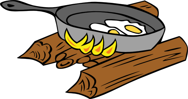 Fish withers. Camp cooking clipart
