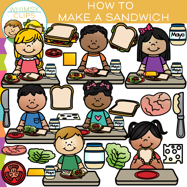 Make clipart sandwich. How to a clip