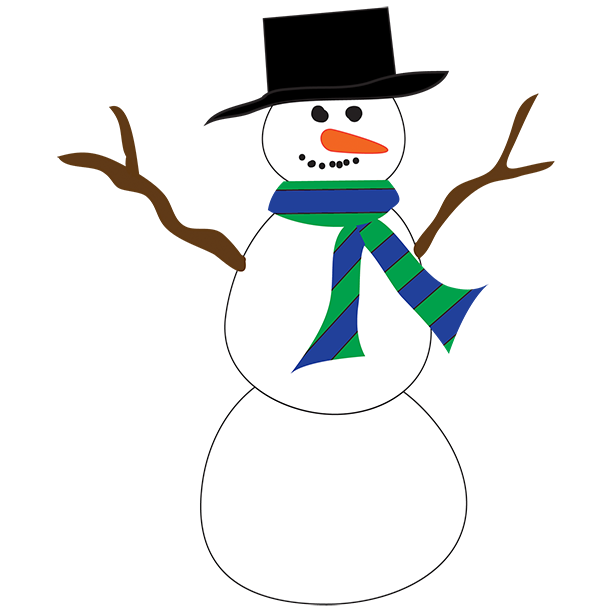 Vector snowman drunk. Free simple cliparts download