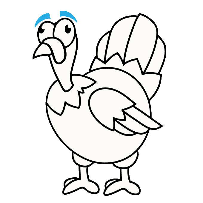 How to make a. Drawing turkey easy vector freeuse download