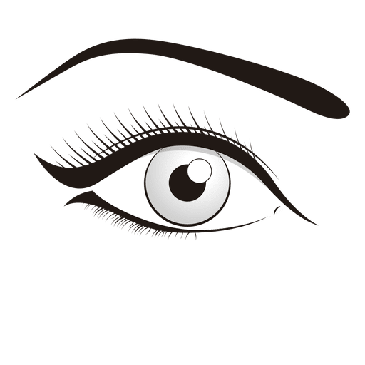 Make png image. Woman eye up transparent