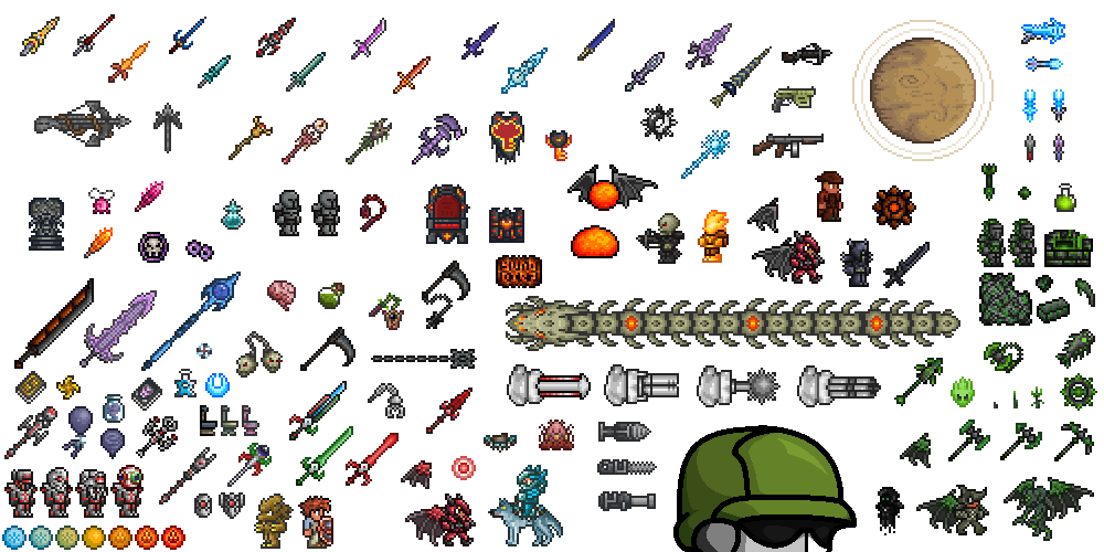 Make sprite sheet from png. A big fat pile