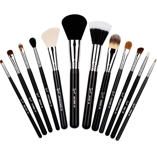 Makeup background png. Range of brushes transparent