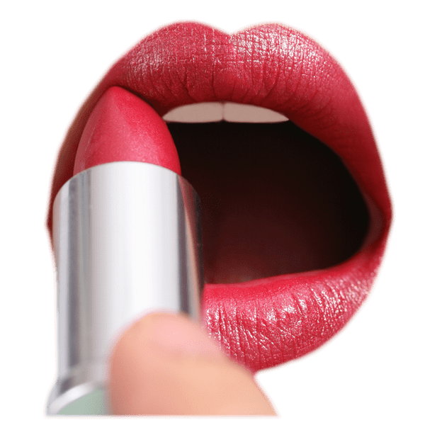Makeup background png. Applying lipstick transparent beauty