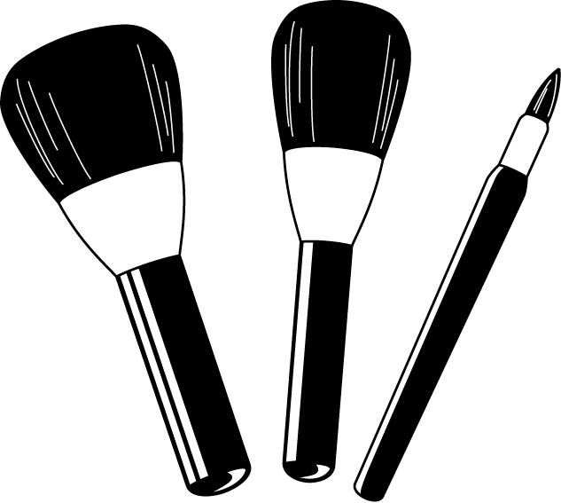 Drawing transparent makeup. Free cliparts download clip