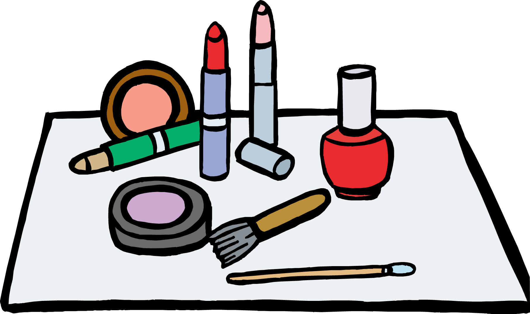 Makeup clipart. Cartoon clip art trends