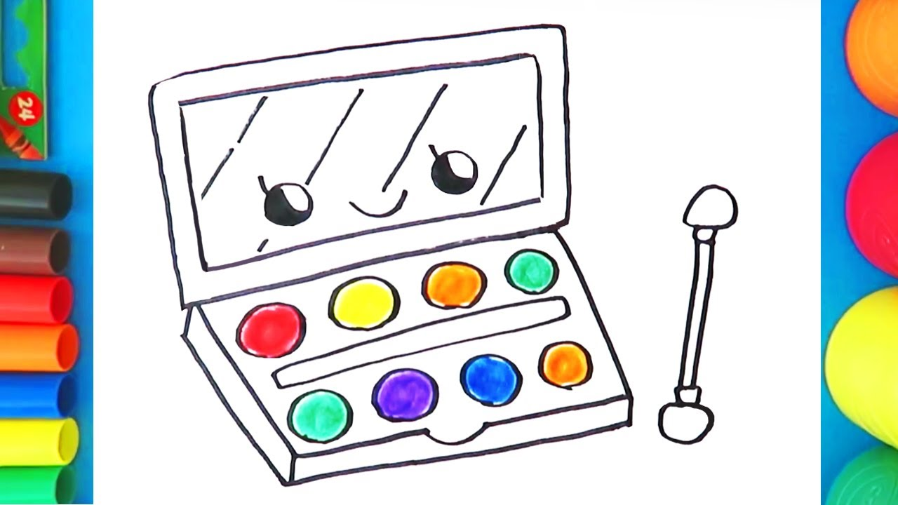 Makeup clipart makeup pallet. How to draw an