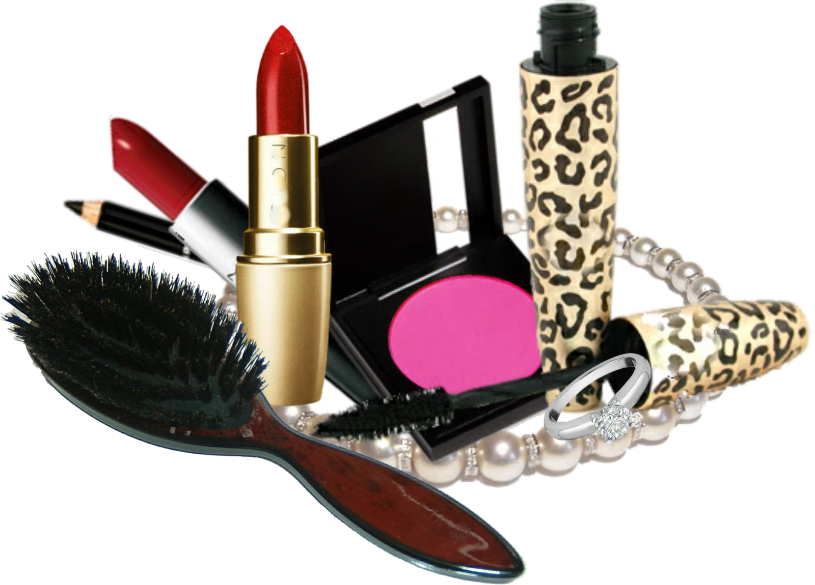 Making a png transparent. Makeup kit products images