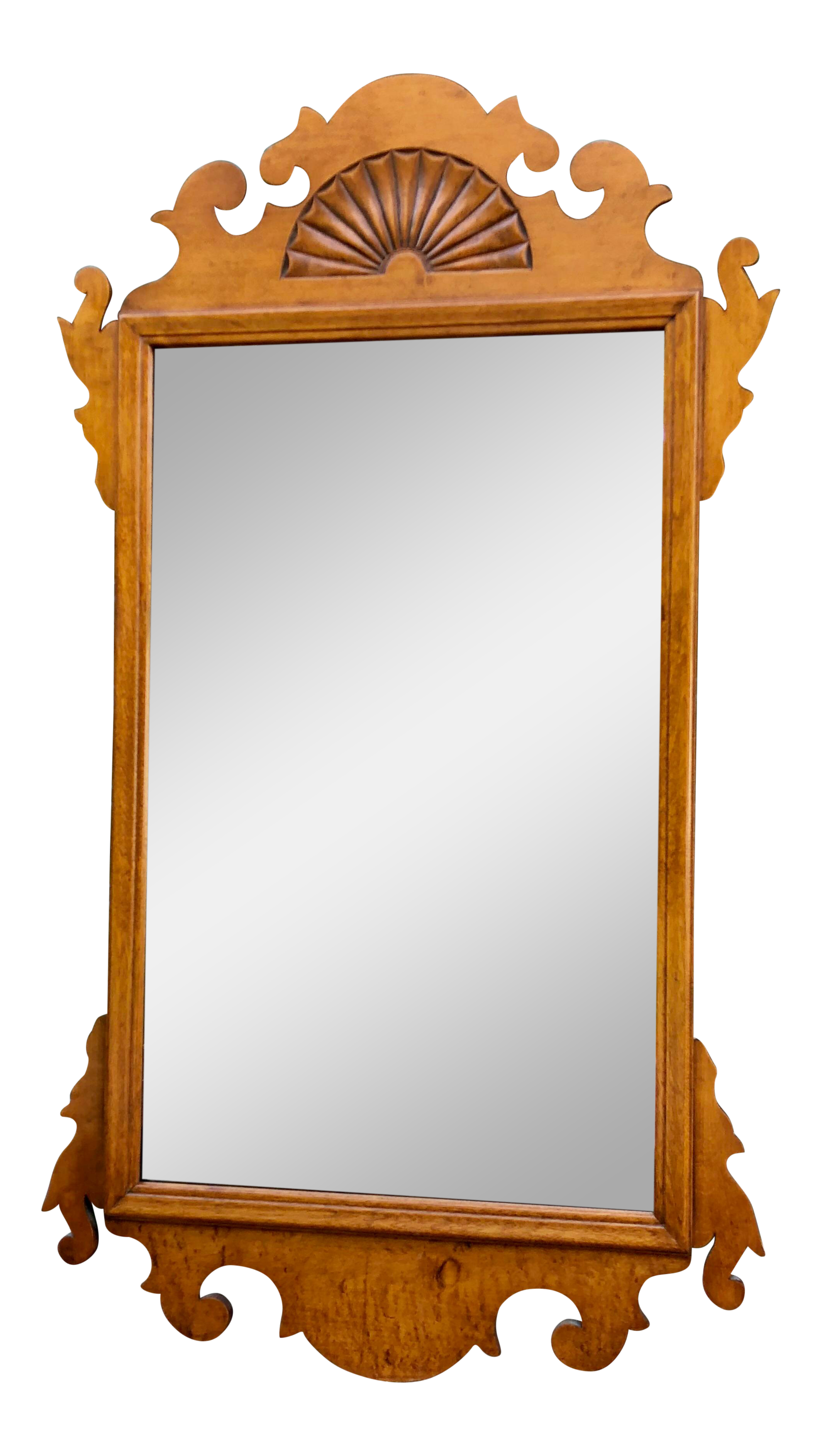 Makeup clipart rectangle mirror. Tiger maple chippendale wall