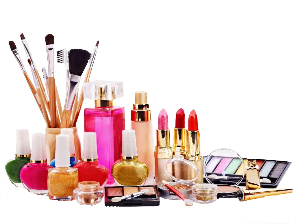 Makeup products png. Ingredients of cosmetics beauty